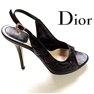 Christian Dior Quilted Cannage Slingback Pump